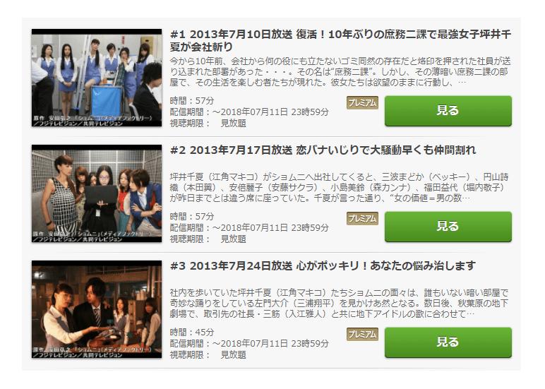 「ショムニ2013」第4シーズンの動画情報
