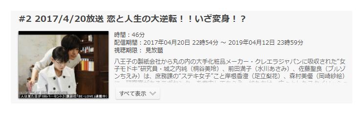 「人は見た目が100パーセント」第2話の動画「恋と人生の大逆転!!いざ変身!?」