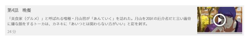 「東京喰種トーキョーグール(1期)」4話の動画「晩餐」