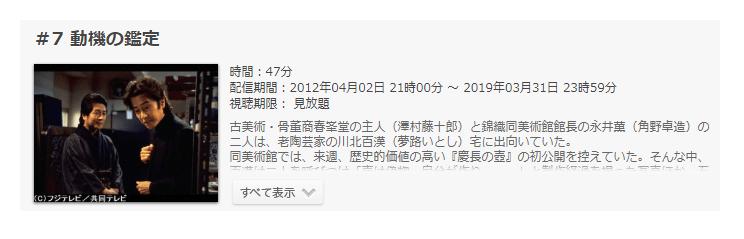 「古畑任三郎」第2シーズン第7話の動画「動機の鑑定」
