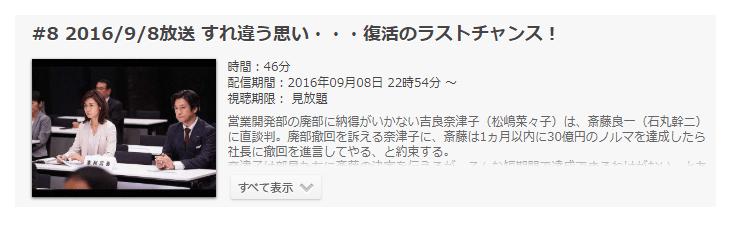 「営業部長 吉良奈津子」第8話の動画のあらすじ