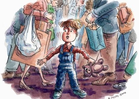 Tips Mengawal Anak-anak Di Pusat Membeli Belah