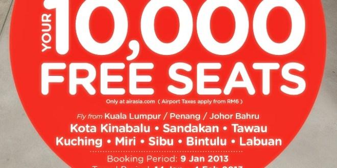 Jom Rebut Tiket Percuma Air Asia