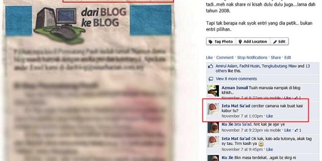 Blogger Nak Kaburkan Image
