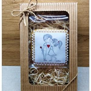 Medovník Láska v krabičke