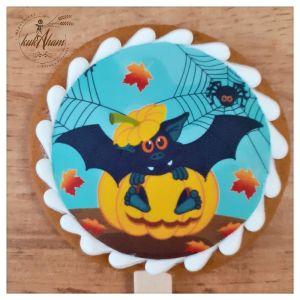 Halloween netopier medovník na paličke