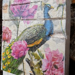 Peacock decoupage