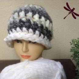 Puf kapa SIVA / Puff Hat GREY, unique