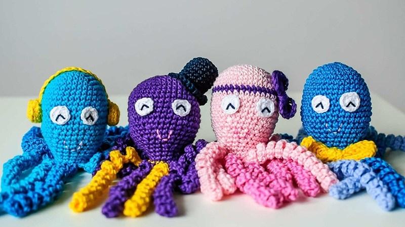 heklane hobotnice za bebe
