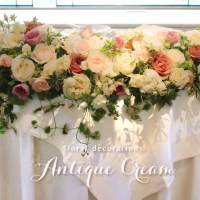 会場装花 Antique Cream