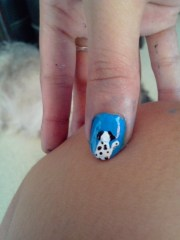 week 5 dog nail art ko