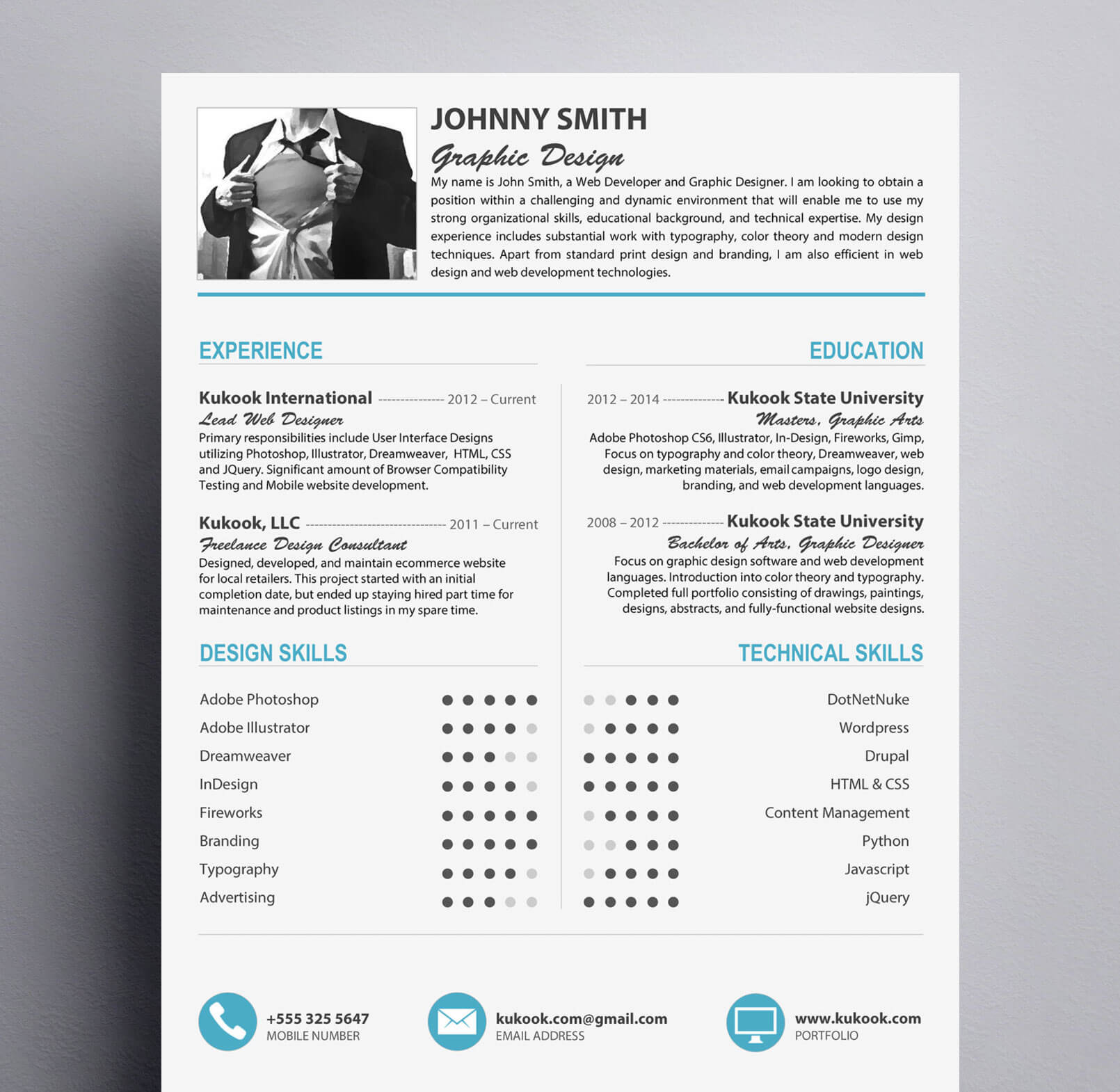 Graphic Designer Resume 2014 Modern Resume Template For Graphic Designers Kukook