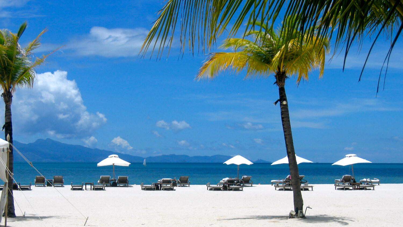 Pláž na ostrově Langkavi