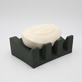 Soap dish MARSEILLE Rue Lamartine grey color handmade in Berlin with porcelain clay.