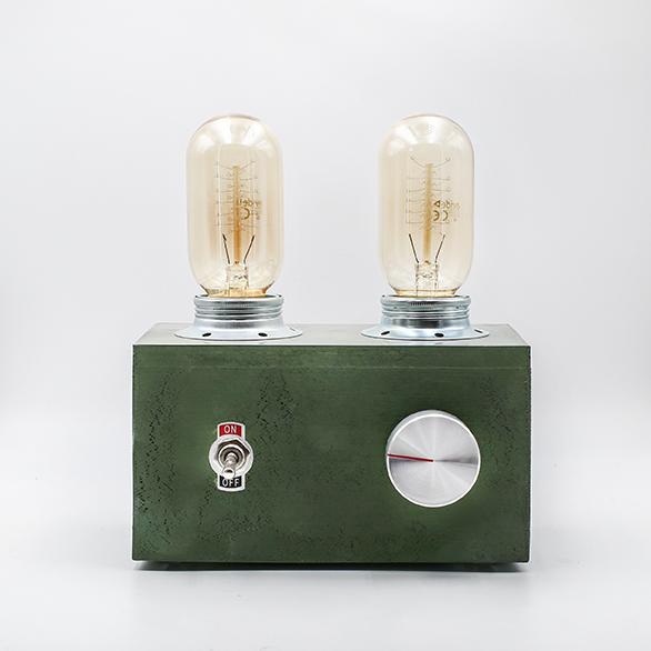 Green Edison Vintage Lamp