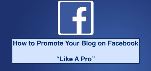 Promoting blog on facebook like professional