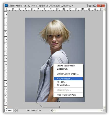 make selection Seleksi Rambut Photoshop, Dengan Hasil Detail