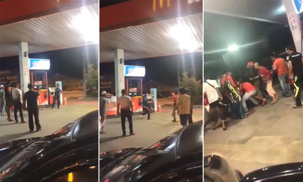 Abang Bangla mengamuk nak bakar stesen minyak di Chukai