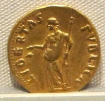 Римская монета Libertas