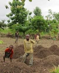 kids in the fields