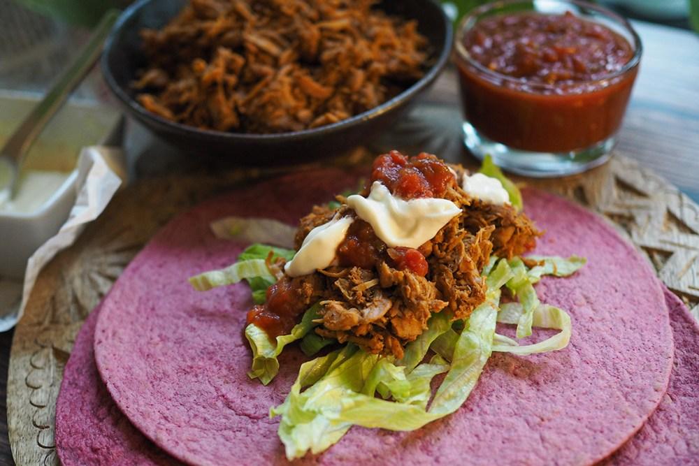 Texmex-maustettu jakkihedelmä sopii vegaanisiin tortilloihin