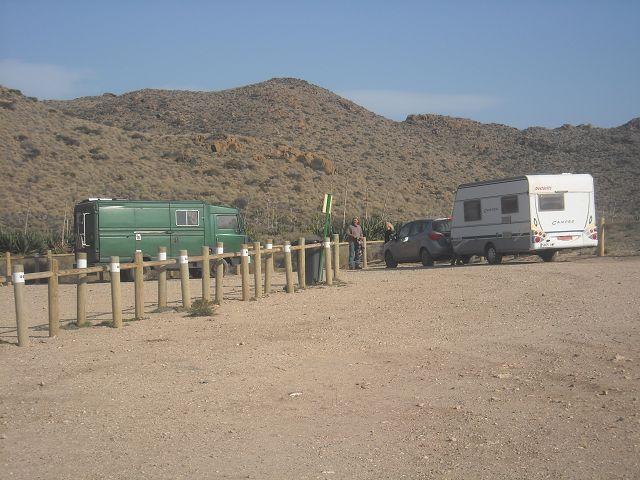 Der Parkplatz diente uns als Campingplatz