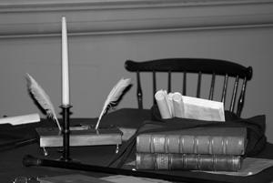 Abendstille in der Schreibstube