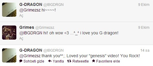 G-Dragon and Grimes Talk On Twitter