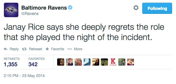 Baltimore-Ravens-on-Twitter_-_Janay-Rice-says-she-deeply-regrets-the-role-that-she-played-the-night-of-the-incident._