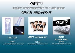 got7 merch merchandise usa fan meets fanmeeting dallas san francisco chicago