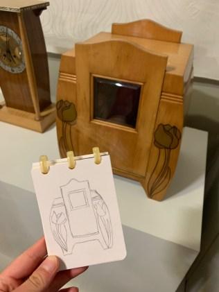 """Original und Lenas Interpretation in der Ausstellung """"Rausch der Schönheit"""""""