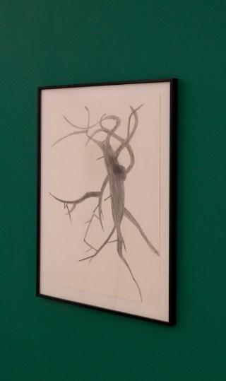 Albert Oehlen Untitled, 1990 Bleistift auf Papier 60 x 45,5 cm © Albert Oehlen / VG Bild-Kunst, Bonn 2020 Foto: ERES-Stiftung, Thomas Dashuber