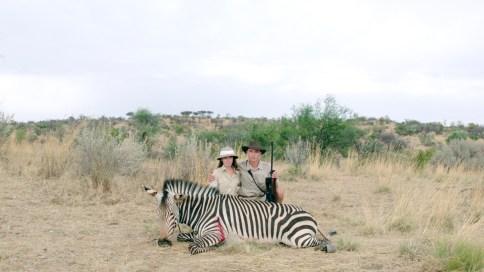 Erfolgreicher Abschuss eines Zebras