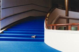 P. Dressler, Aus Mit großem Interesse, Hotelhalle Bangkok, 1990 © Fotohof Archiv