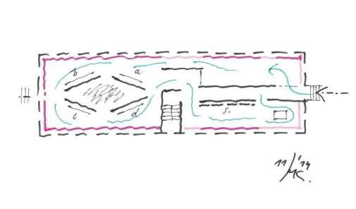 Innenraumgestaltung für die neue Österreich-Ausstellung in Auschwitz. Entwurf von Martin Kohlbauer. Foto: Architekt Martin Kohlbauer ZT