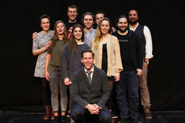 Jim Libby mit den Studentinnen und Studenten des Max Reinhardt Seminars © Belush Korenyi