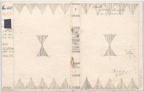 Josef Hoffmann, Entwurf für einen Einband des Buches , Dante Alighieris Göttliche Comödie. Übertragen von Philalethes. Die Hölle, 1924. Bleistift und Leder auf Papier. © MAK