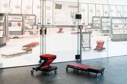 Installationsansicht: Work it, feel it!, Kunsthalle Wien 2017, Foto: Jorit Aust: Shawn Maximo, Creeper Comforts (Specialty Multi) (Detail), 2017, Courtesy der Künstler