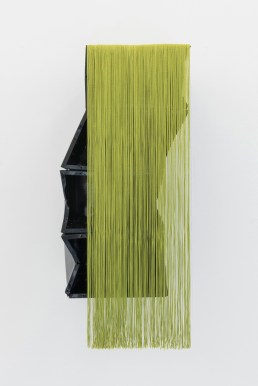 Ana Santos Untitled, 2015 Found object, polyester threads 83x35x3cm Courtesy Galerie Quadrado Azul