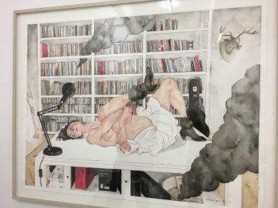 "Galerie Hilger Agus Suwage ""Fragment Pustaka #2 - After Egon Schiele"" 2017"""