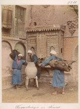 Wasserträger in Kairo Fotograf: Bonfils, Felix oder Adrien; Aufnahmedatum ca. 1870 Abzug, handkoloriert H. 277 mm, B. 215 mm © KHM-Museumsverband