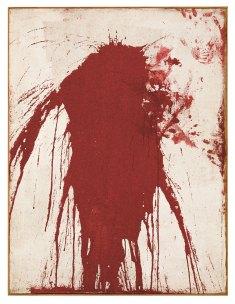 Hermann Nitsch, Ohne Titel (Sch¸ttbild), 1962. Sammlung Philipp Konzett, Wien. Foto: Lisa Rastl