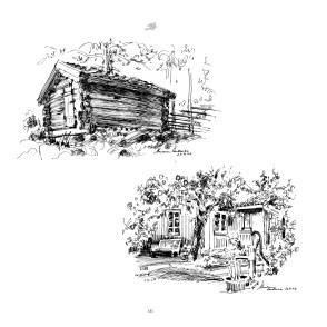 Kunstneren Marianne Andresen har tegnet de vakre motivene fra Kulturhavens bygningsmiljø