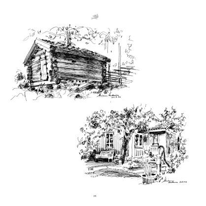 Kulturhaven, Kunstneren Marianne Andresen har tegnet de vakre motivene fra Kulturhavens bygningsmiljø