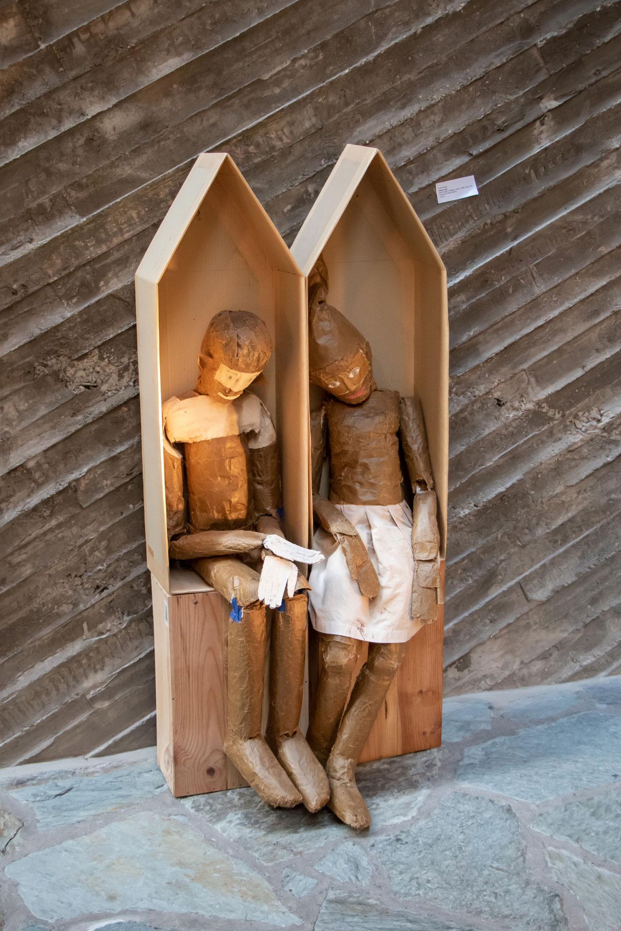 Irmel und Felix Droese Ausstellung Malerei Skulpturen Aquarelle Zeichnungen Kulturkirche Ost Stimmimprovisation GAG Joseph Beuys