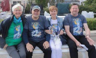 """Zum """"Niegen Ümgang"""" am 7. Juli 2018 in Warnemünde. Die T-Shirts wurden von der Hansestadt Rostock gesponsert."""