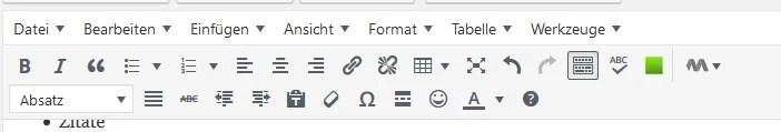 Der angepasste WordPress-Editor