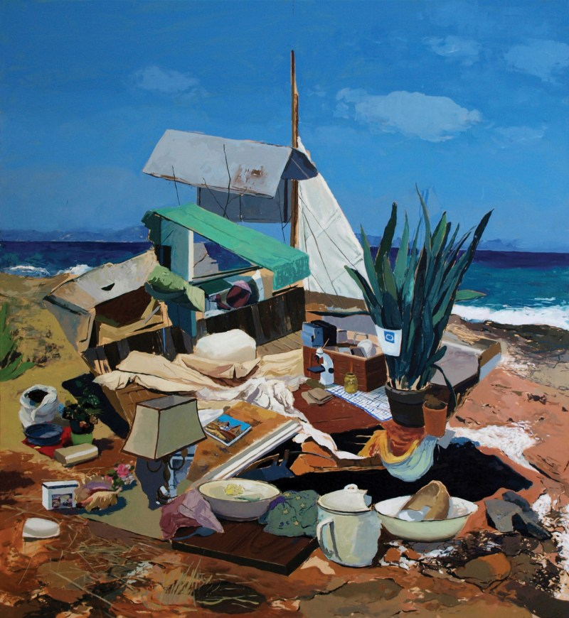 Alfons Pressnitz, Stranded, 2014, Öl auf Leinwand / Oil on canvas, 150 x 140 cm, Foto & © Alfons Pressnitz