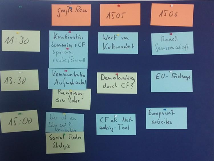 Sessionplanung stARTcamp Linz