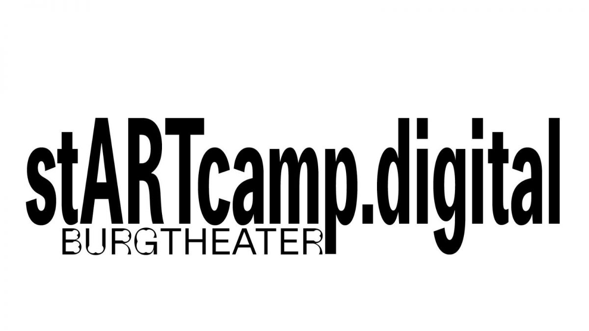 Das Logo für das stARTcamp.digital in Kooperation mit dem Burgtheater